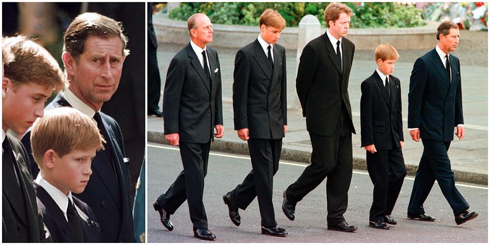Prins Harry var bara 12 år gammal när han gick bakom sin mammas kista vid prinsessan Dianas begravning.