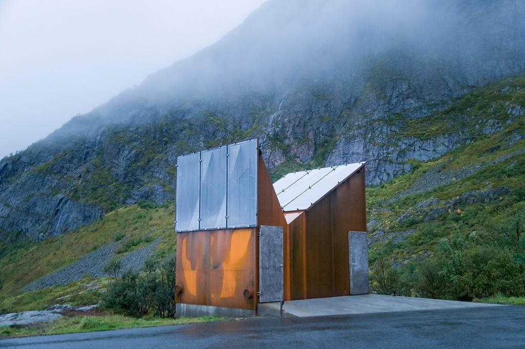 Denna toalett ska efterlikna berg.