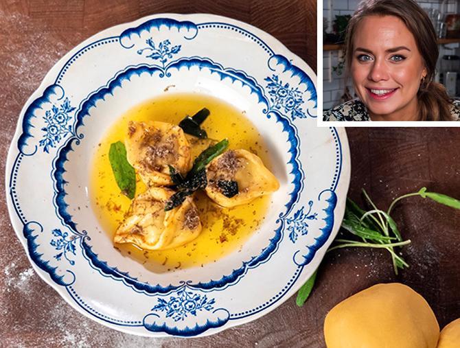 Sofia Henrikssons middagstips: Italiensk rätt med hemgjord tortellini.