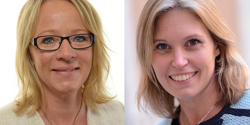 Carina Herrstedt och Madeleine Eriksson, Sverigedemokraternas kvinnoförbund.