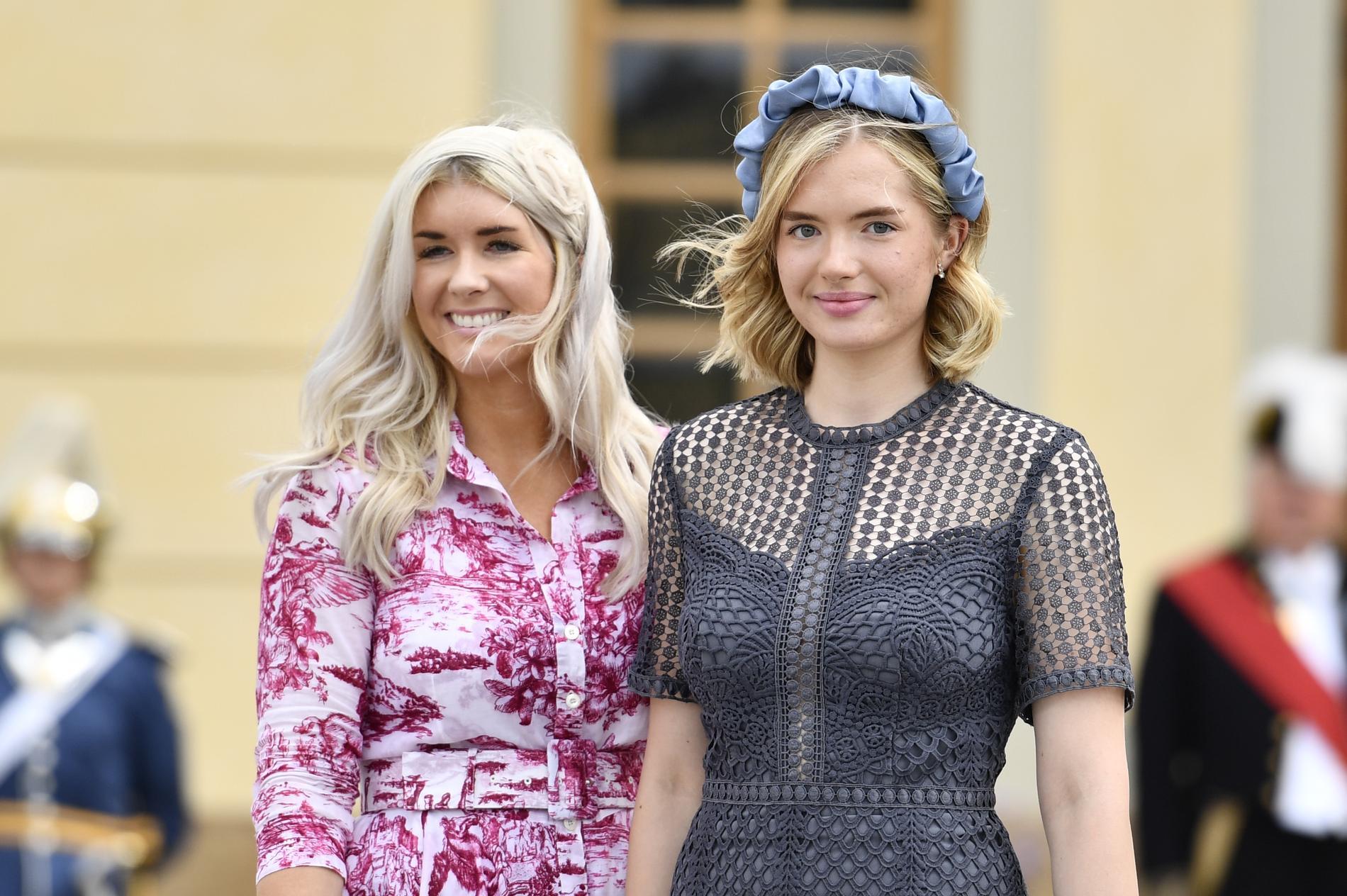 Prinsessan Sofias vänner Cajsa Larsson och Tiara Larsson.