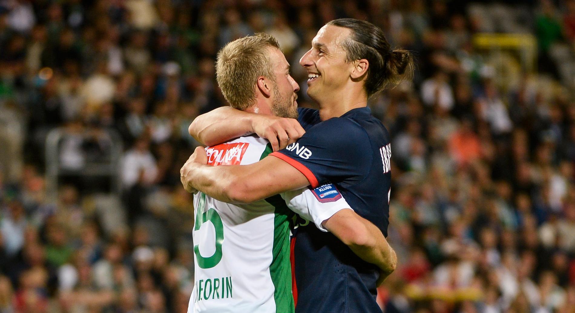 Zlatans dribbling övergick i en kram.
