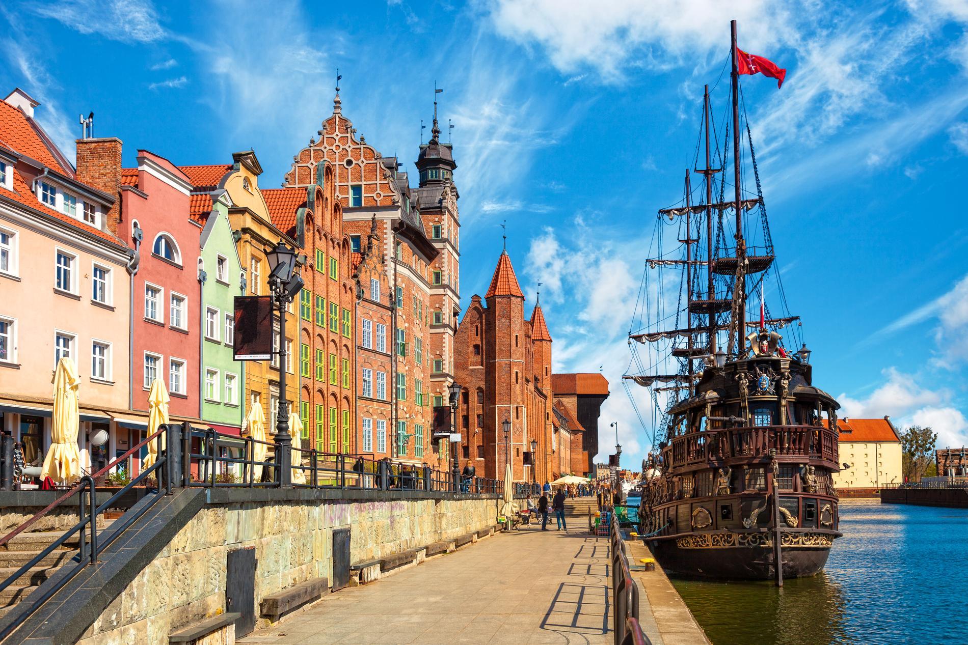 Gdansk ligger på det som kallas Polens riviera.