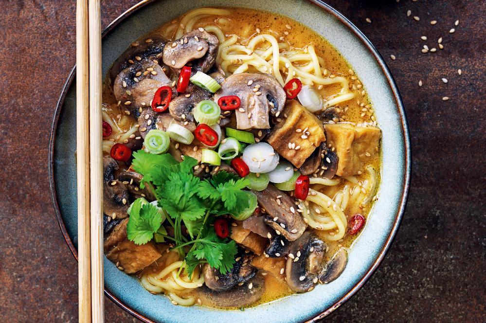 Enkel ramensoppa med tofu