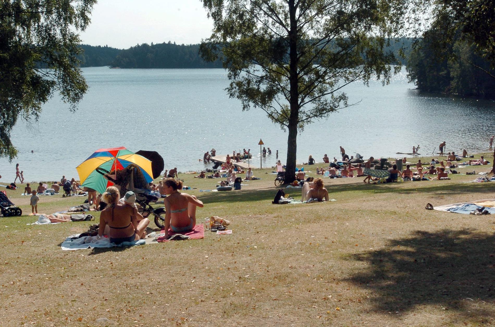 Många göteborgare flyr till Delsjöbadet varma sommardagar.