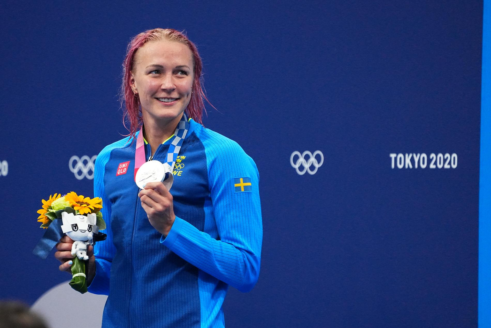 Sarah Sjöström med silvret.