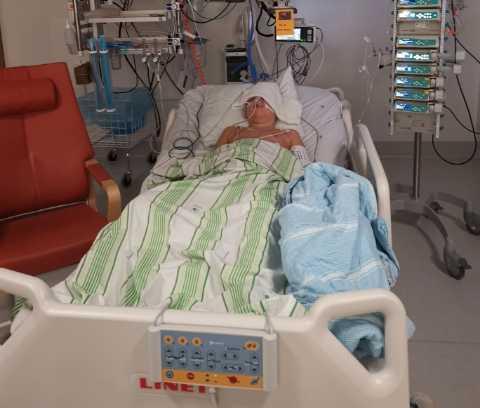 Mio fick intensivvård när han drabbades av MIS-C.