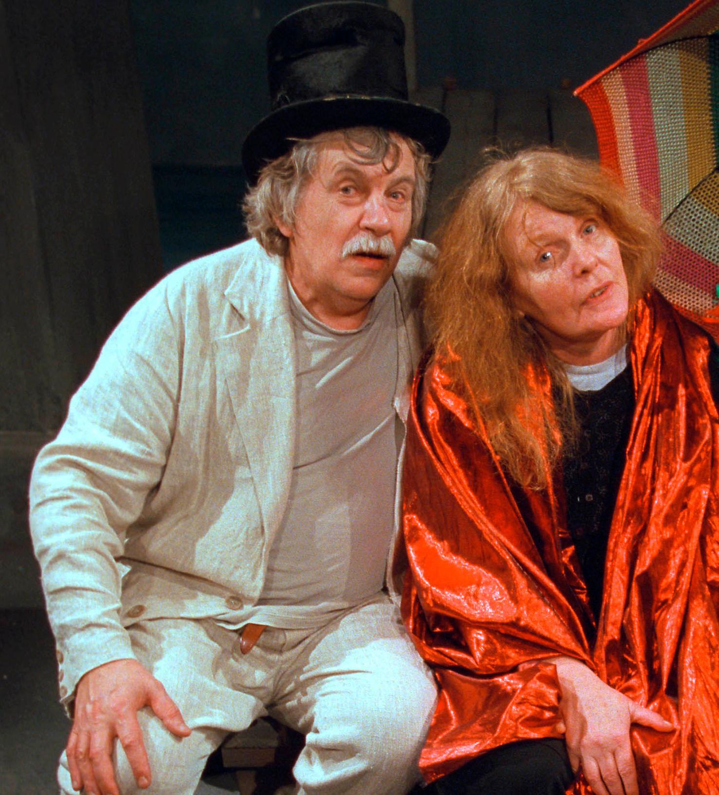 Staffan Westerberg och Kristina Lugn på Teater Brunnsgatan 4.