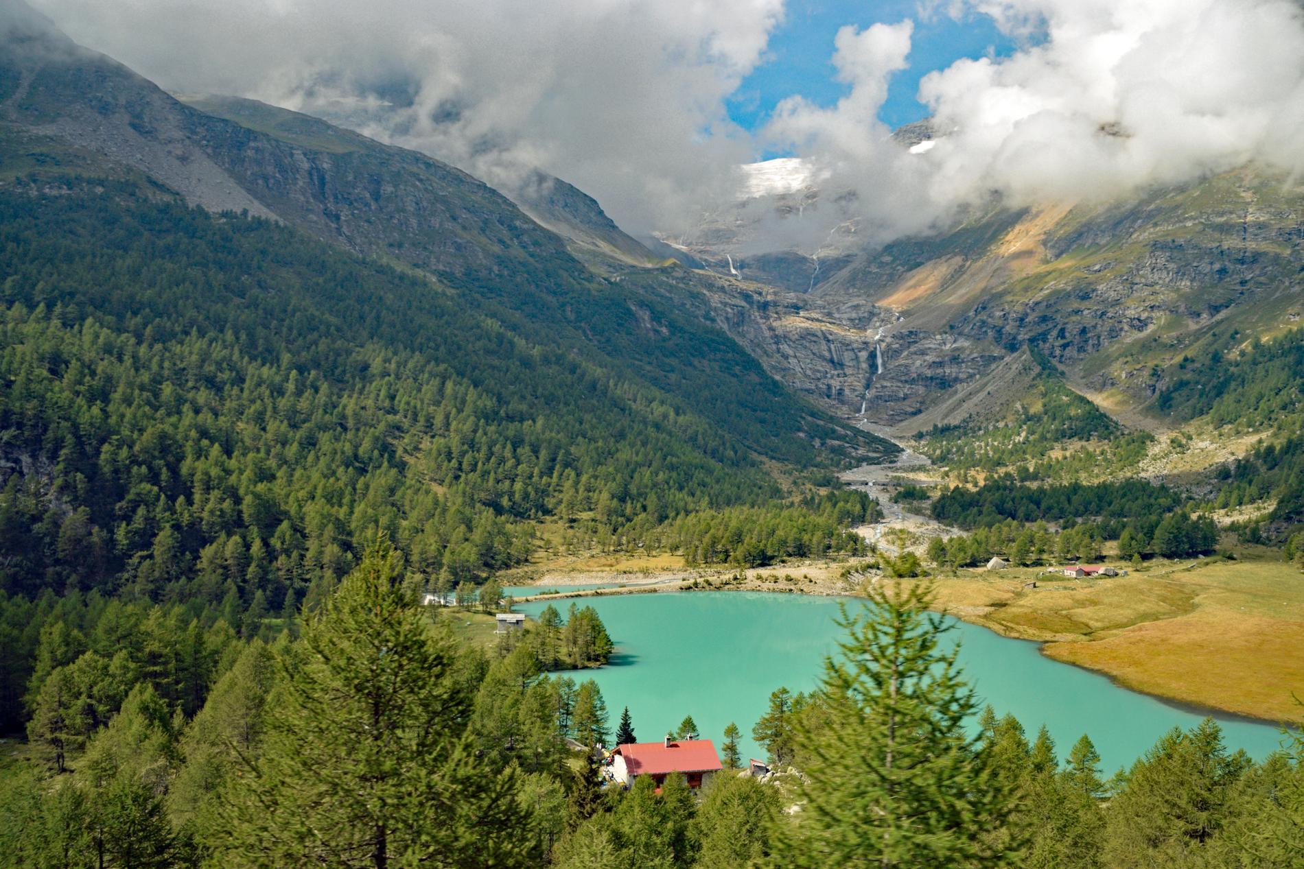 Såhär ser utsikten ut från glaciärexpressen.
