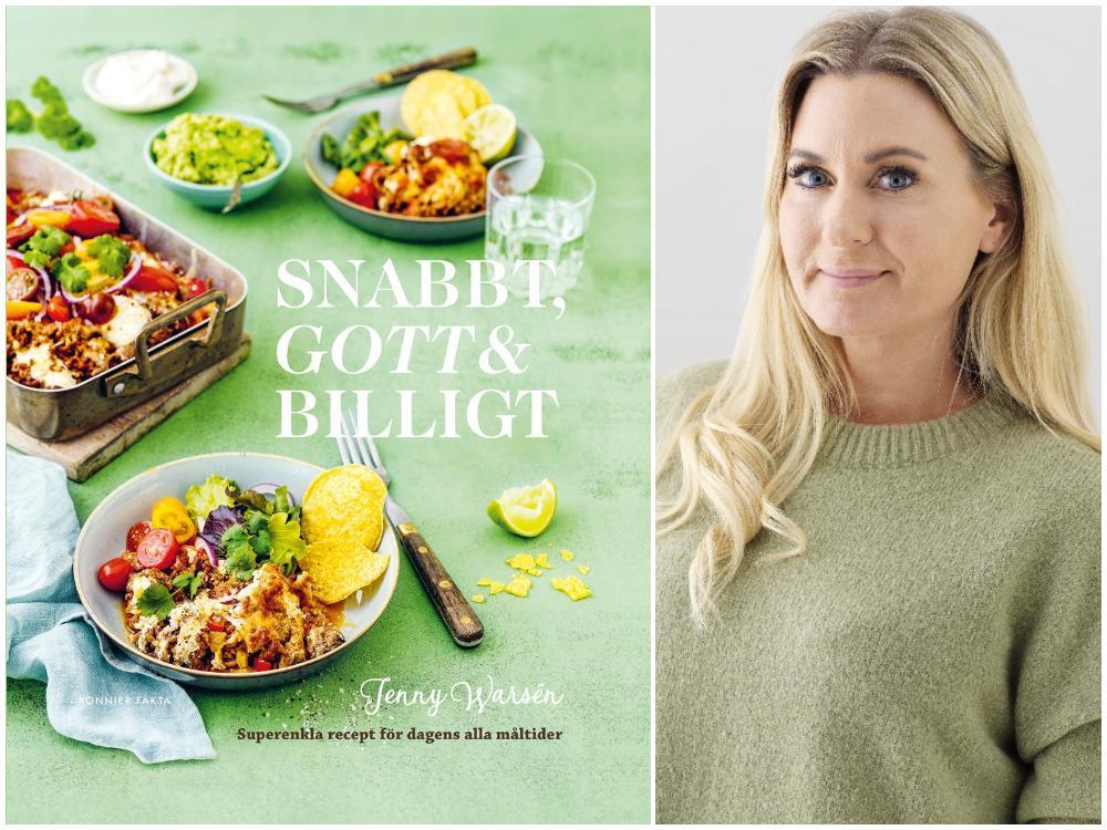 Jenny Warsén med nya kokboken.