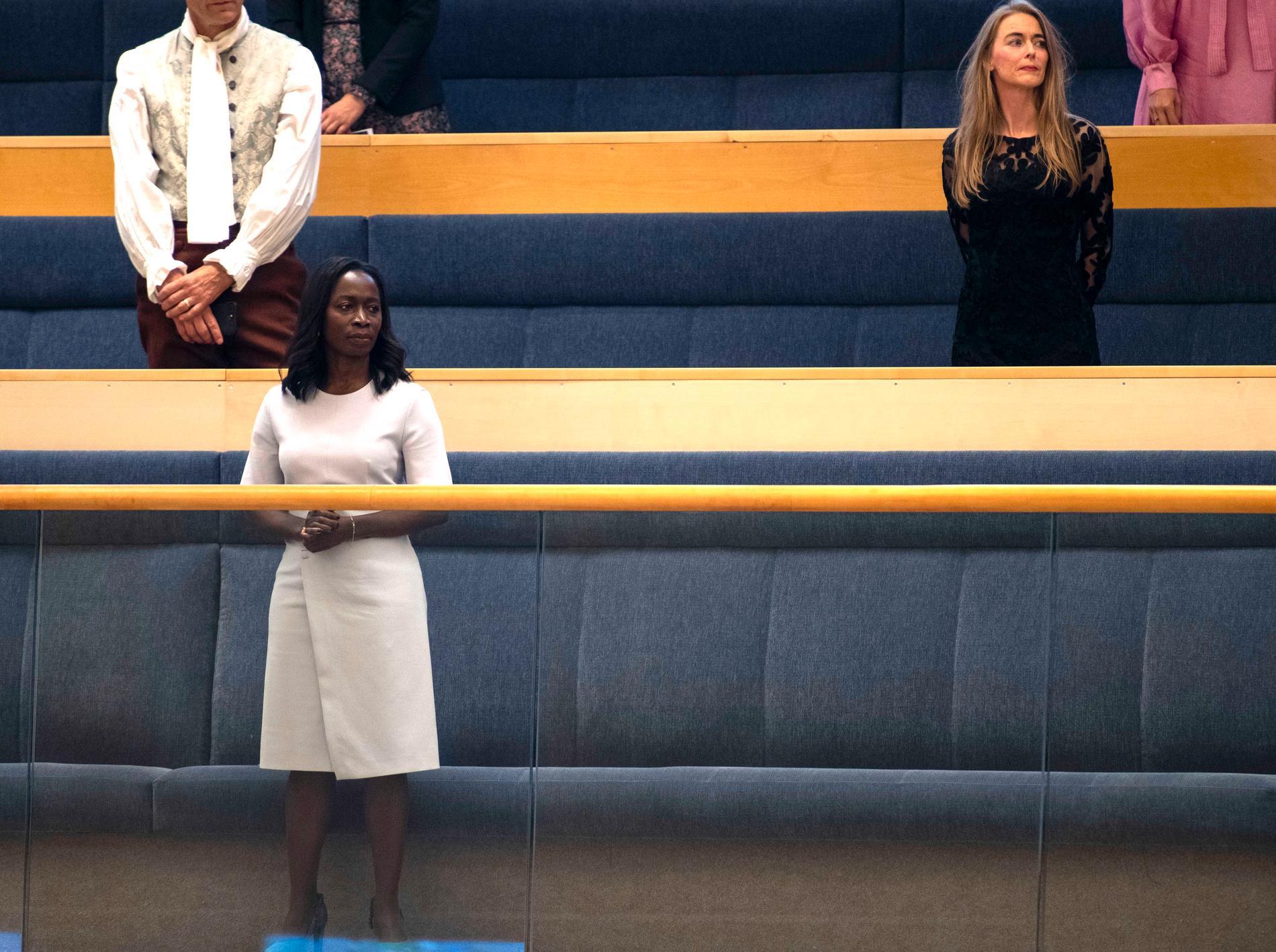 Nyamko Sabuni på riksdagens läktare.