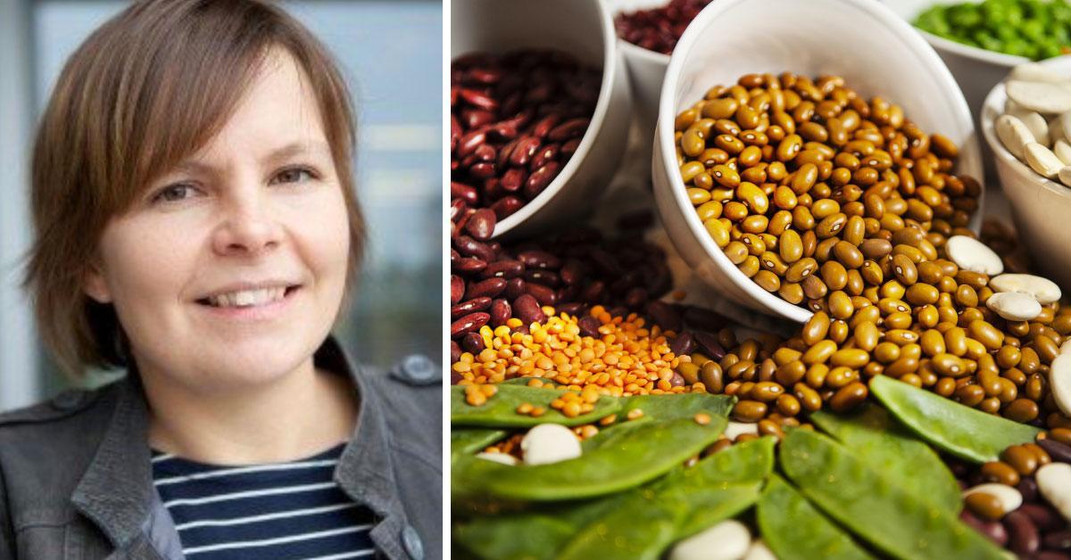 Elin Röös forskar kring hållbar matproduktion vid Sveriges lantbruksuniversitet.