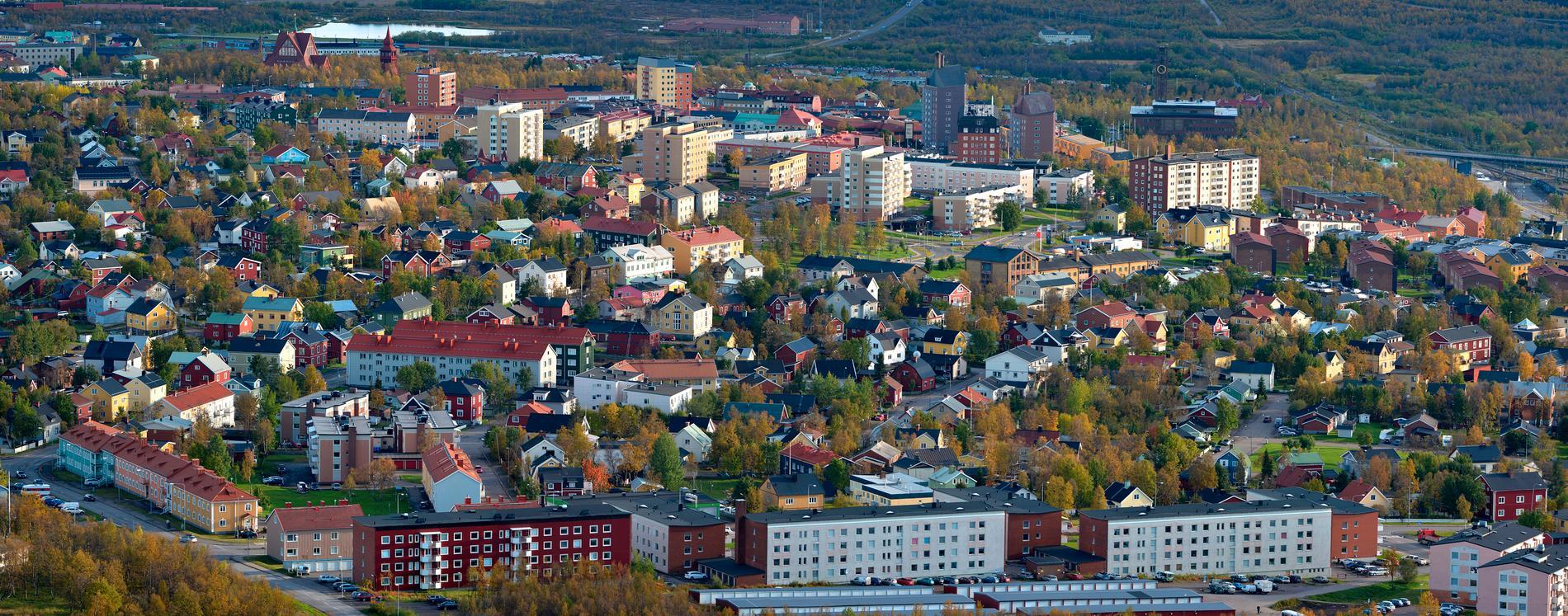 Coronasmittan rusar i Kiruna.