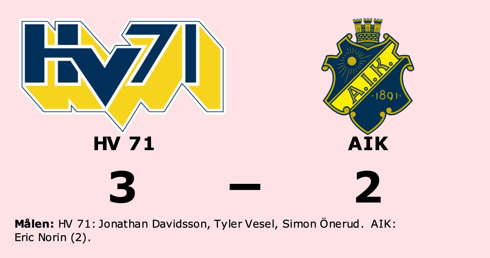 Uddamålsseger när HV 71 besegrade AIK