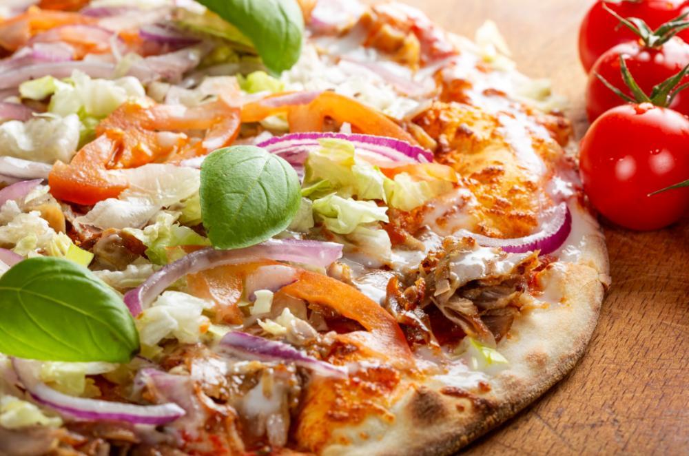 Kebabpizza – gott och enkelt.