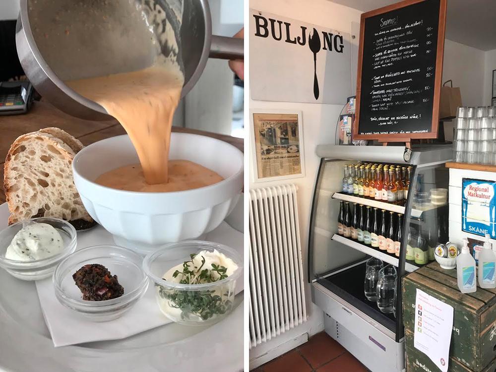 Värm dig inifrån en kylig dag med smarriga soppor från Buljong i Lund.