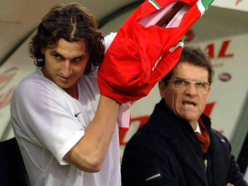 Zlatan Ibrahimovic och Fabio Capello i Juventus 2006.