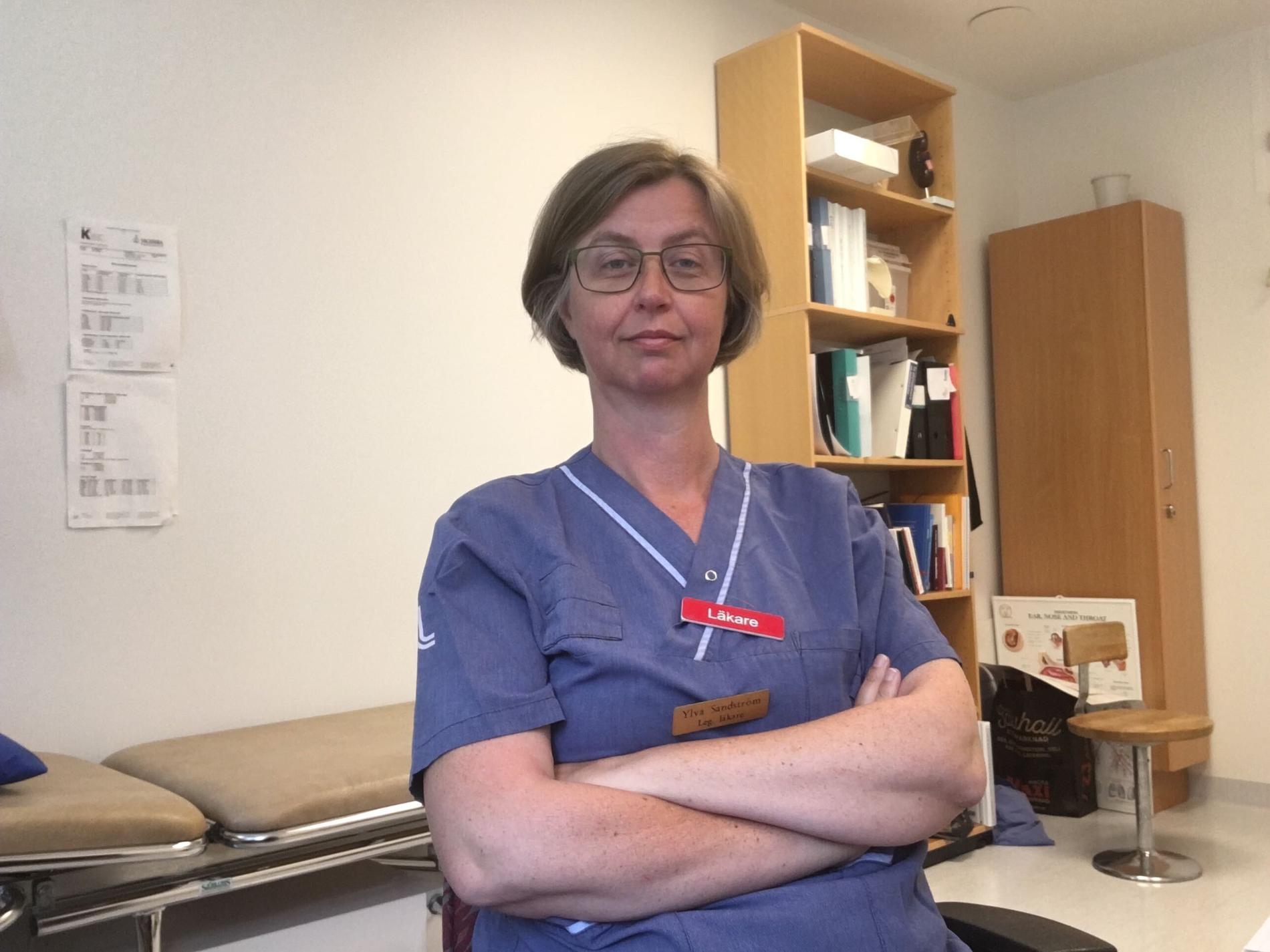 Läkaren Ylva Sandström.