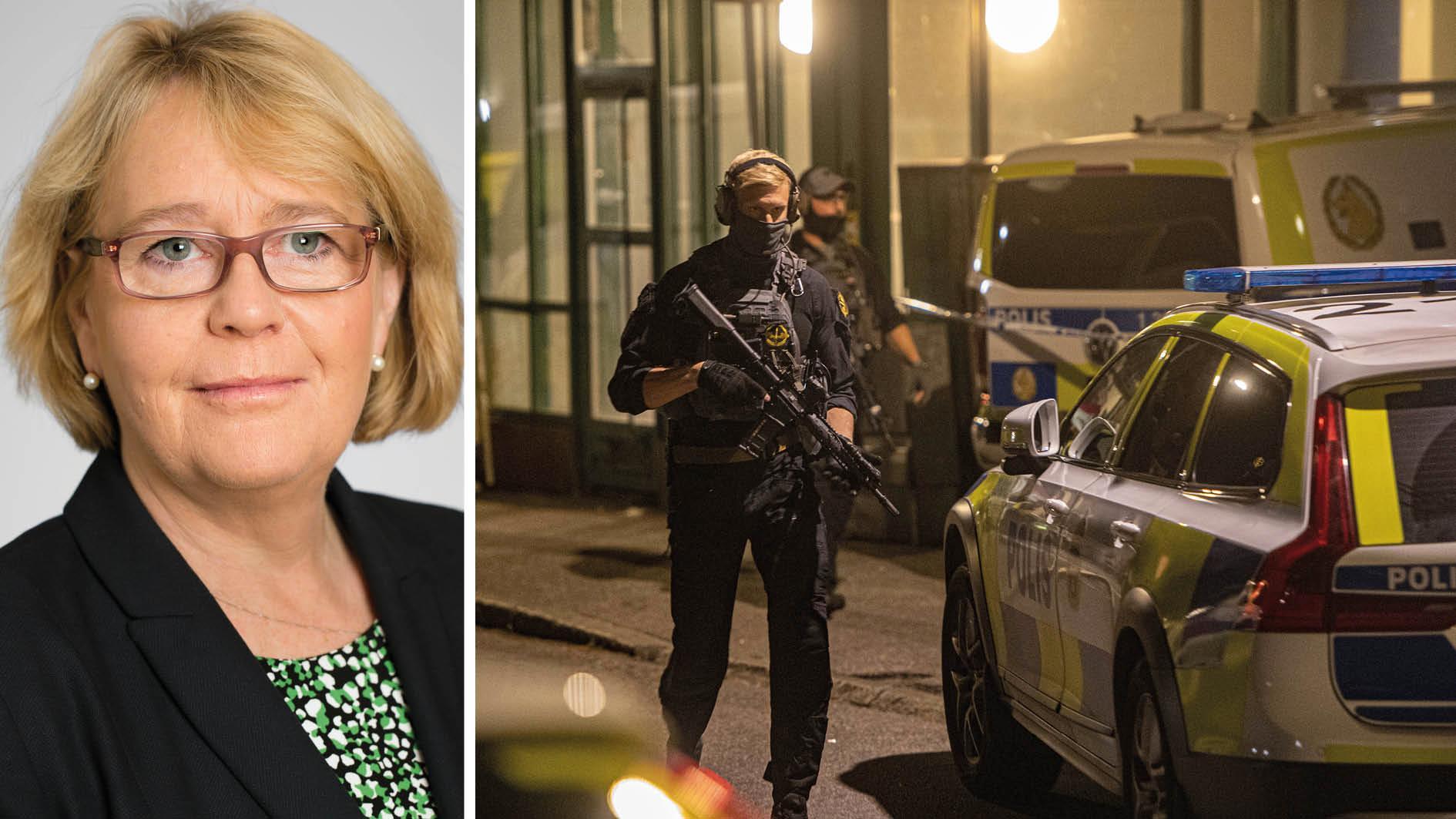 16 människor har bragts om livet och oskyldiga barn har skadats av förlupna kulor. Sveriges huvudstadsregion går inte längre att känna igen. Därför bjuder jag in regeringen till ett krismöte om gängvåldet och har med mig tre krav, skriver Irene Svenonius.