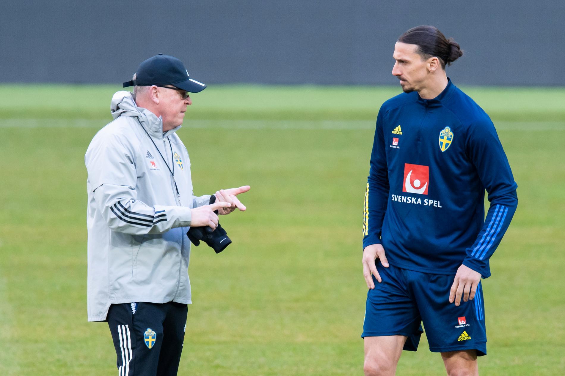 Janne Andersson och Zlatan.