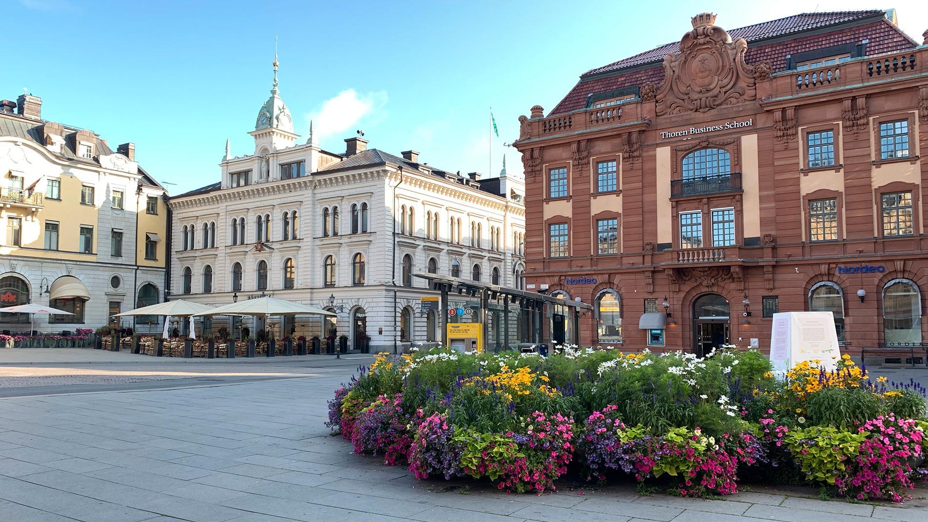 Stora torget i Uppsala.