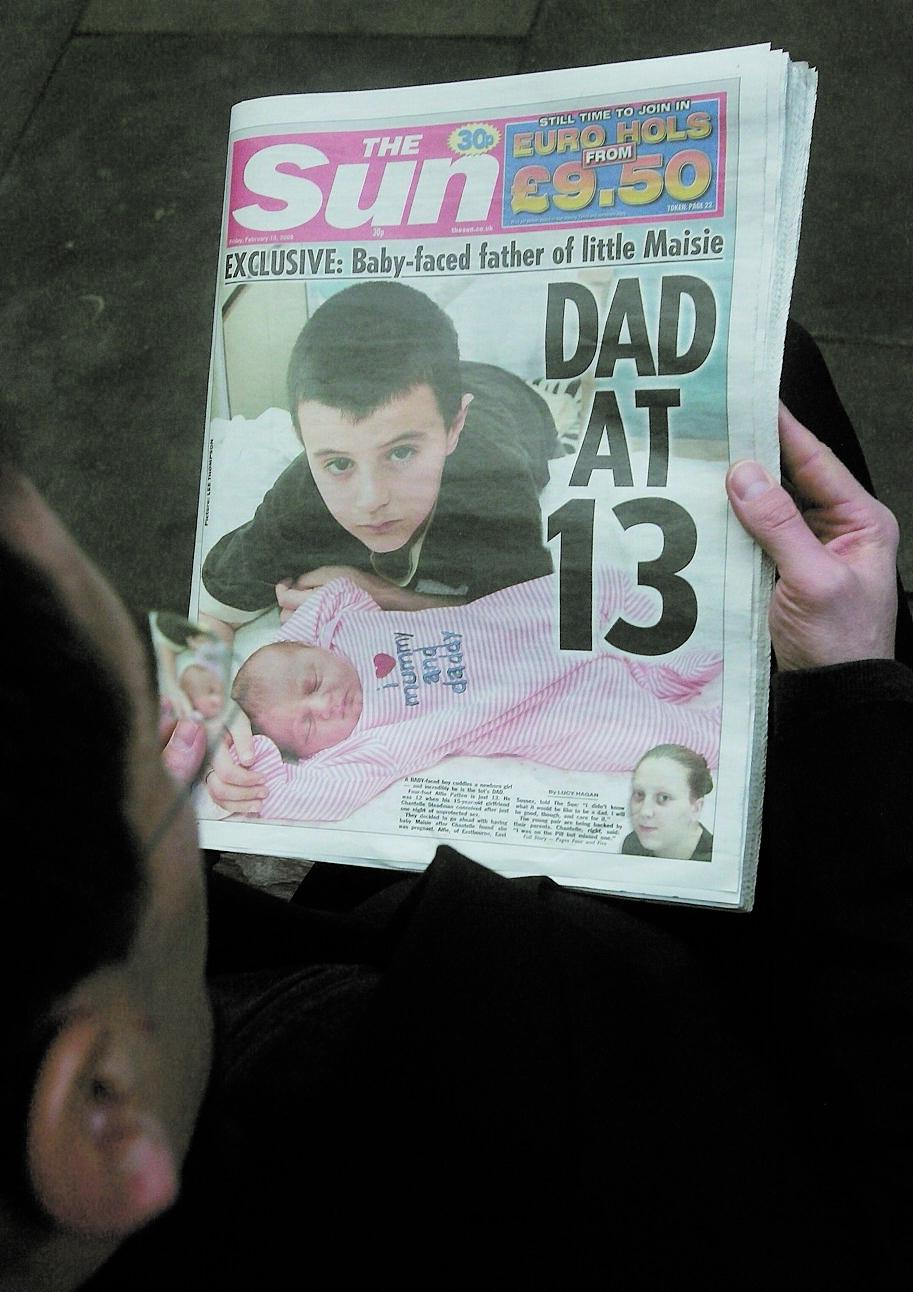 Chock The Sun var först med nyheten om att 13-årige Alfie Patten var pappa till Chantelle Steadmans barn. Men nu kan historien skrivas om.