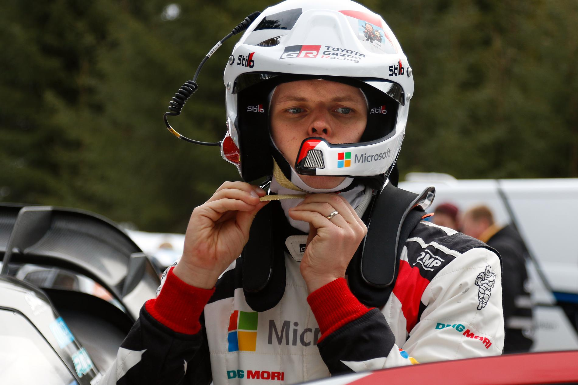 Ott Tänak är ny världsmästare i rally. Arkivbild.