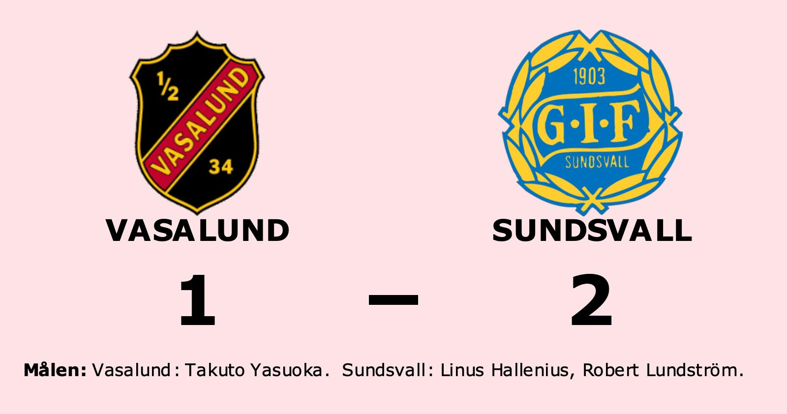 Vasalund förlorade mot Sundsvall
