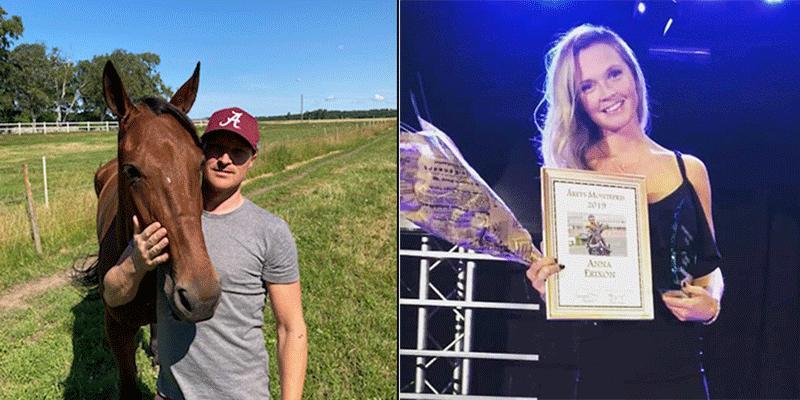 Halmstad-tränaren Johan Svensson och montéryttarinnan Anna Erixon har funnit kärleken i varandra.
