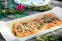 Blandningen av salt, sött och kryddor ger laxen en välbalanserad läcker smak.