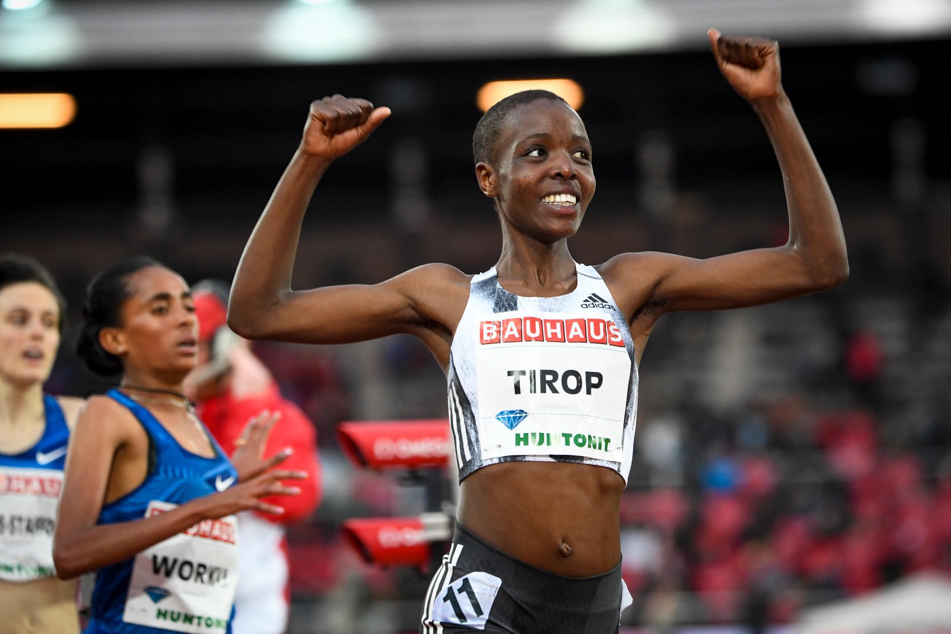 Agnes Tirop vann 5000 meter under Diamond League-galan i Stockholm 2019. Arkivbild.