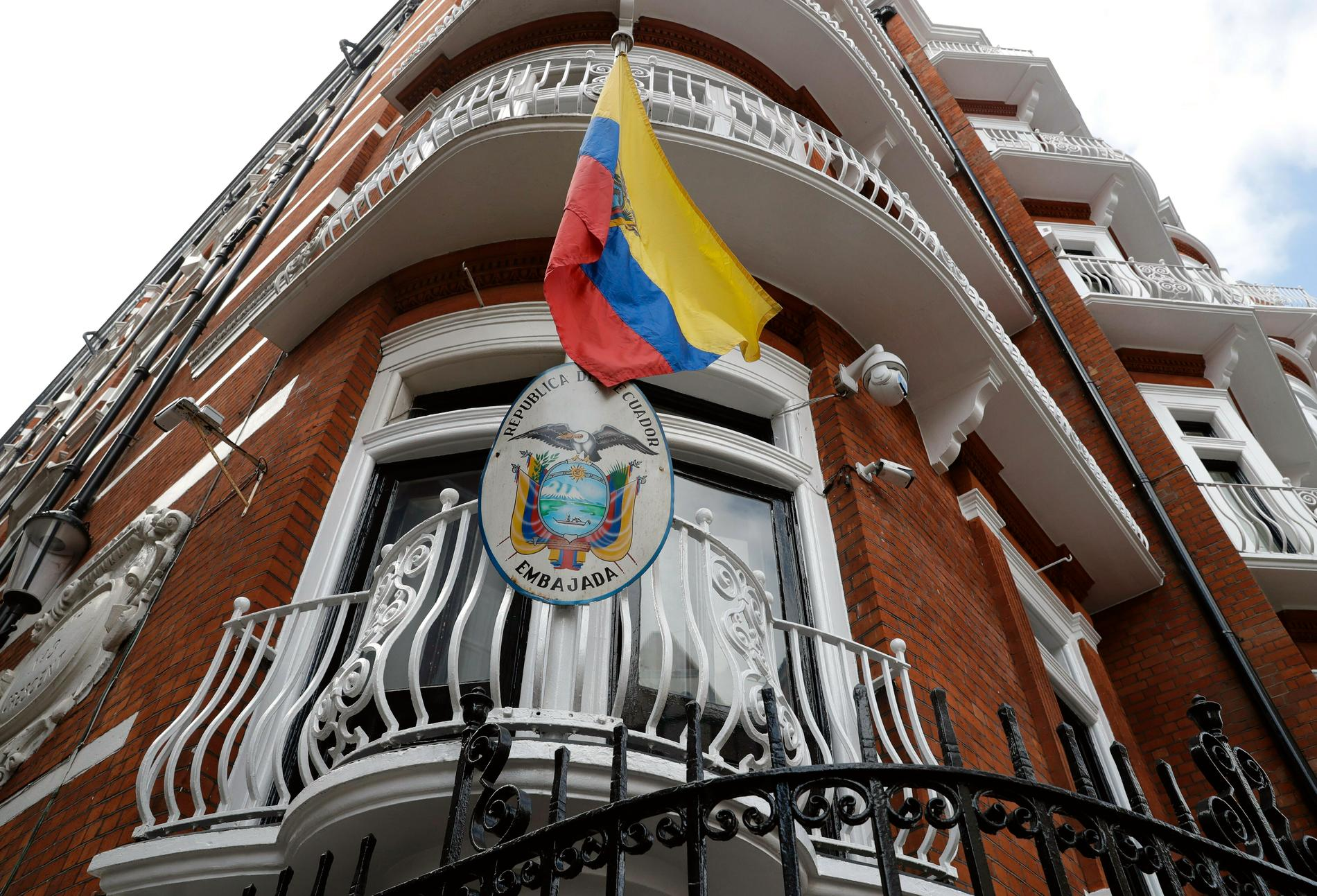 Wikileaksgrundaren Julian Assange bodde på Ecuadors ambassad i London i flera år. Arkivbild.