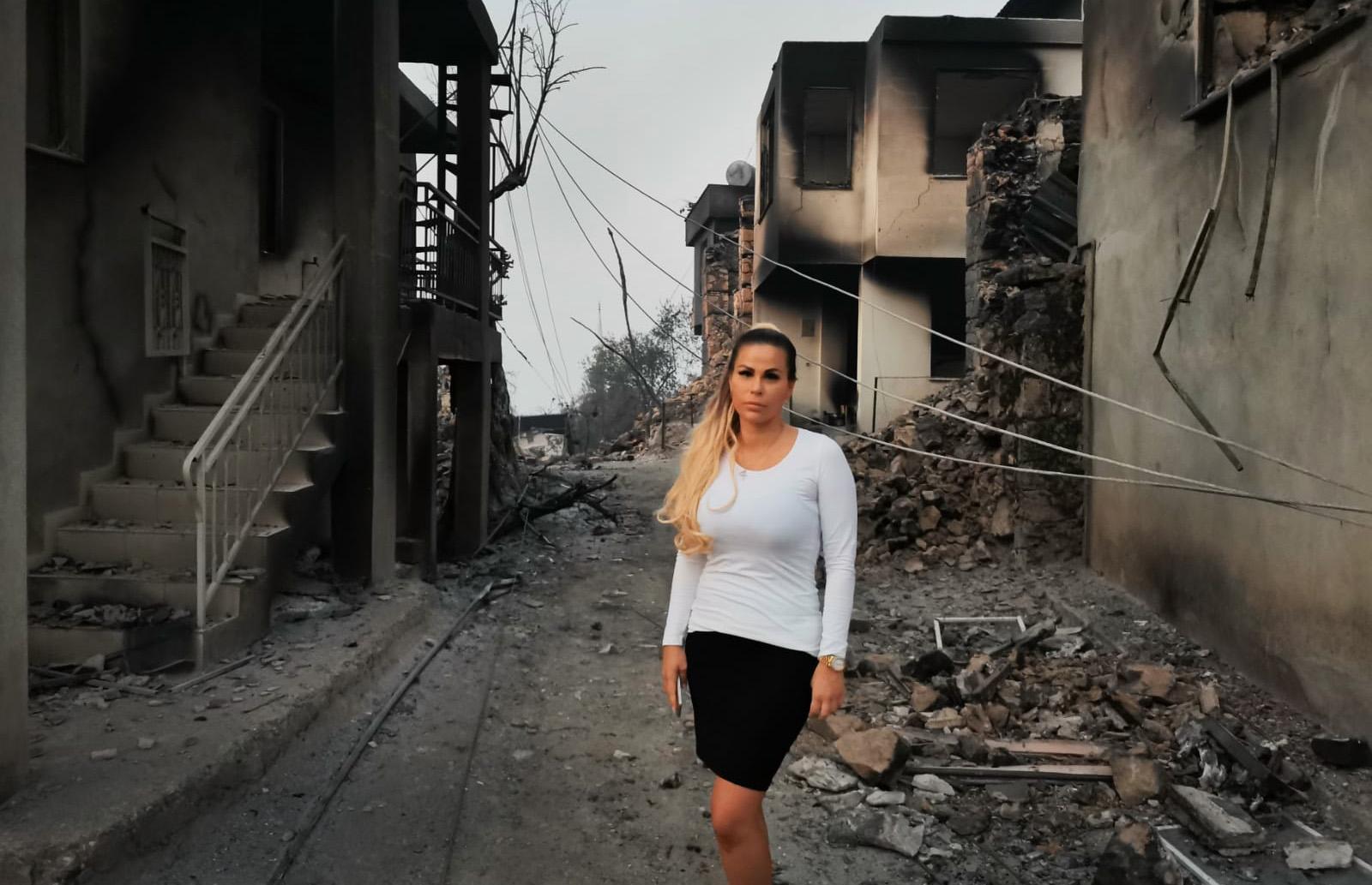 Johanna Vallberg på plats i byn Bayir cirka 20 km från Alanya i Turkiet.