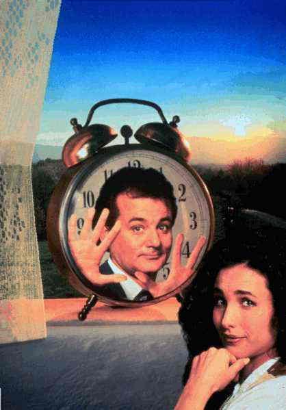 """""""Groundhog Day"""", eller """"Måndag hela veckan"""" som den heter på svenska, kom 1993."""