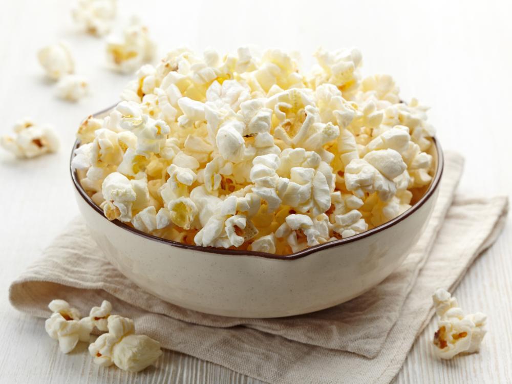 Krispiga, perfekt poppade popcorn.