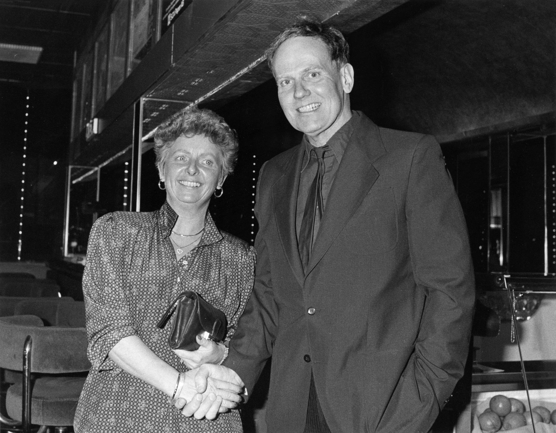 Ann-Sofie Bergman tillsammans med skådespelaren Torsten Wahlund på en bild tagen 1988.