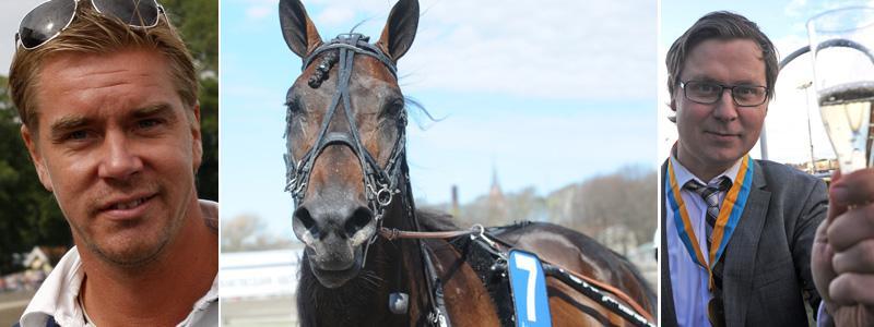 Tommy Salo och Patric Skoglund hoppas på vinst på torsdag då deras häst går ut i uttagningsloppet till Sprintermästaren.