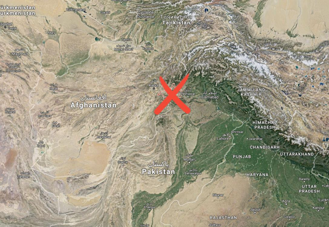 Bomben släpptes över provinsen Nangarhar i Afghanistan.