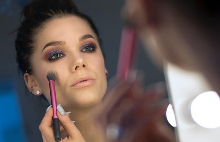 Makeupartisten och bloggaren Linda Hallberg.