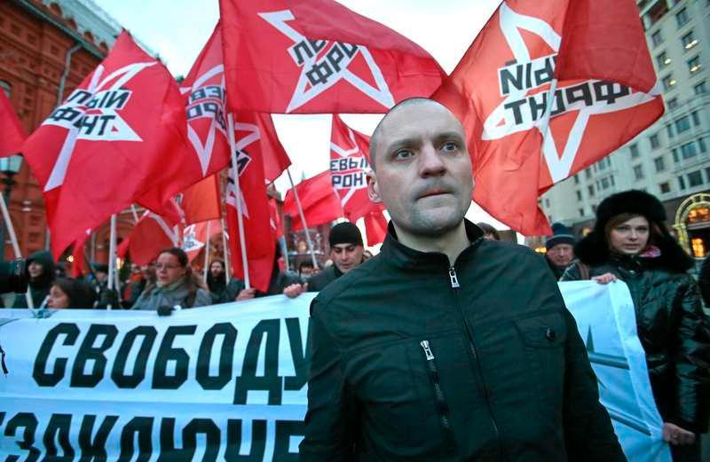 Sergej Udaltsov, rysk oppositionsledare.