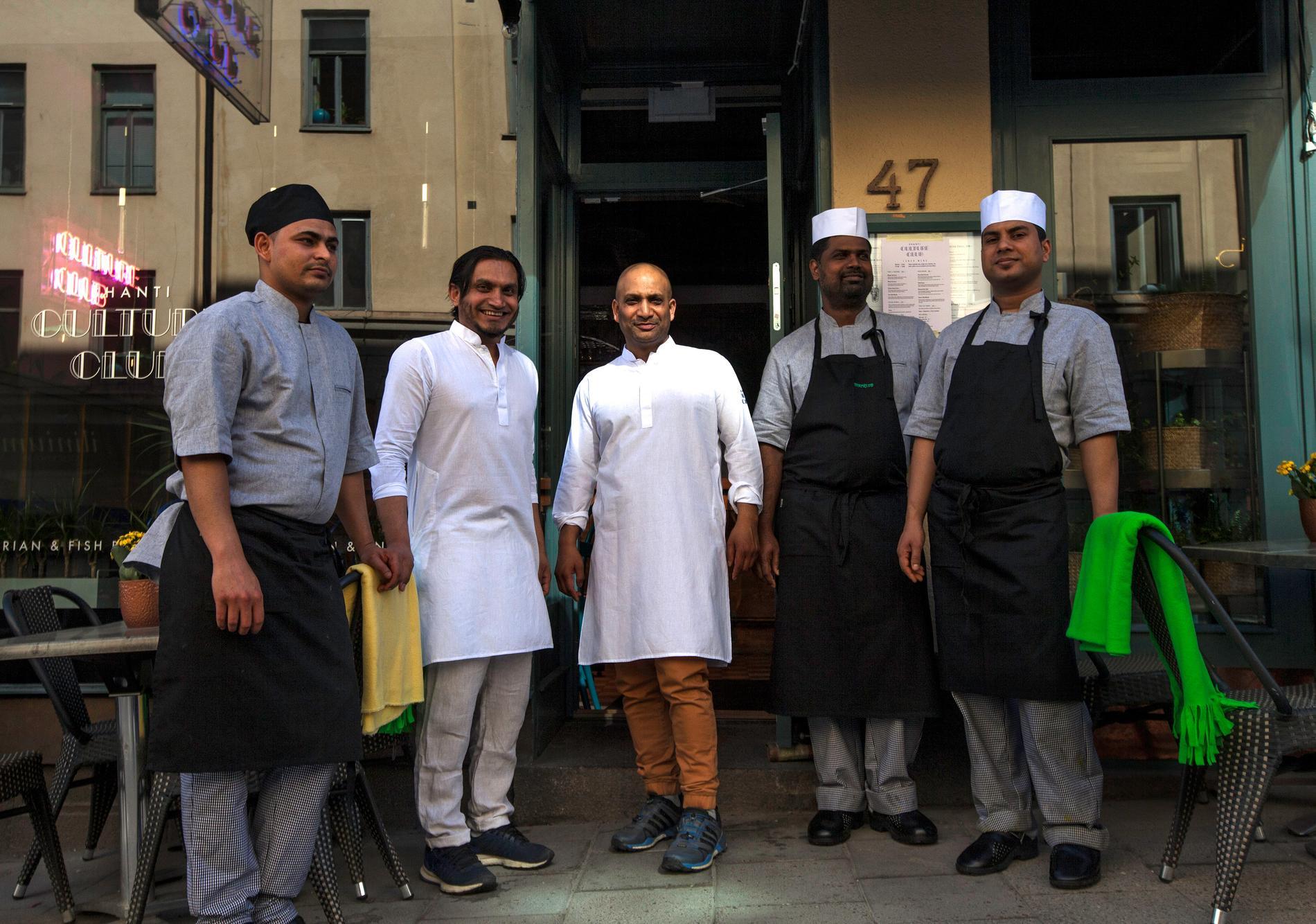 På Shanti Gossip serveras indisk och bengalisk streetfood.
