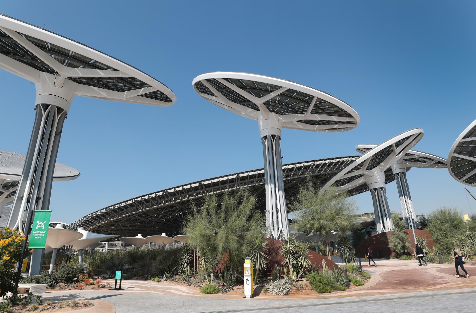 Hållbarhetspaviljongen Terra i Dubai som är en del av utställningen
