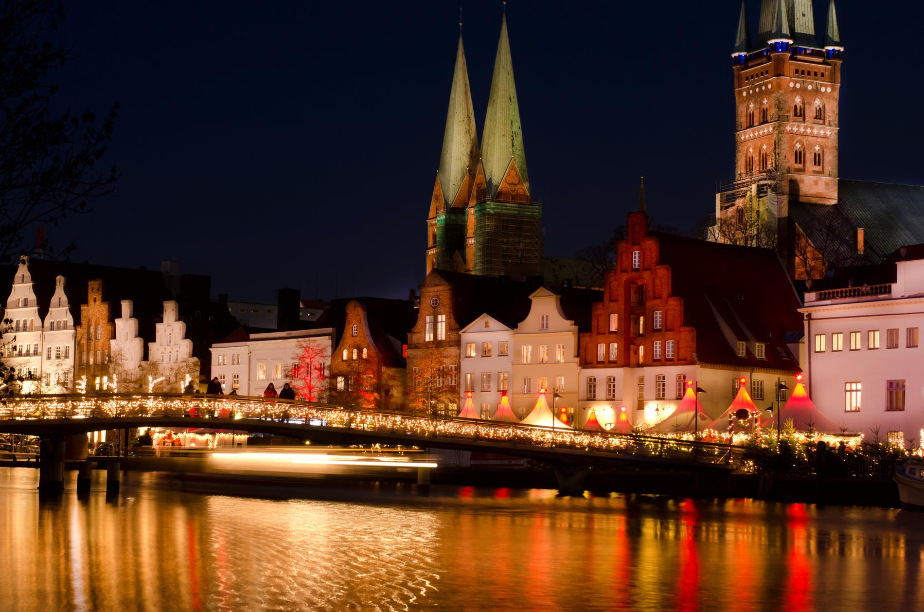 Lübeck är en mysig stad på julen.