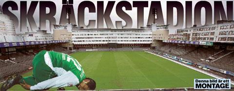 Sebastian Castro-Tello får bita i gräset på Söderstadion. I år har hans Hammarby bara vunnit en match av nio på skräckarenan.