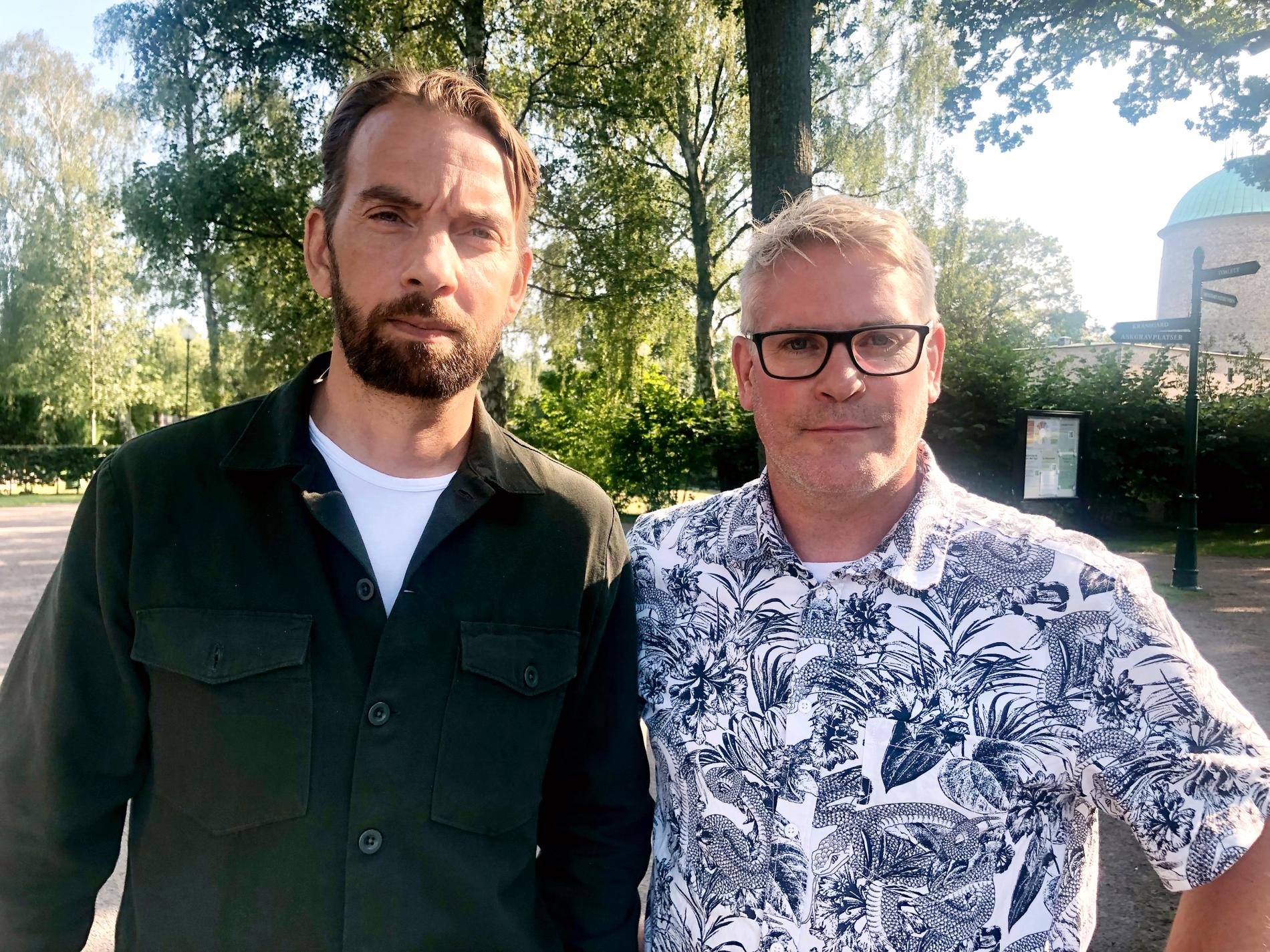 Aftonbladets Oskar Forsberg och Magnus Sandberg på plats i Helsingborg.