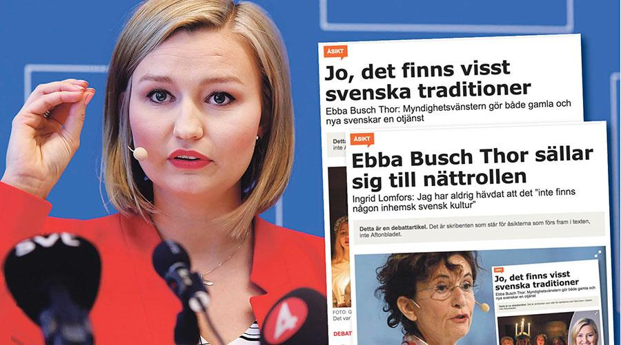 Det har under lång tid varit vanligt att makthavare spelar ner svenska företeelser i stället för att med stolthet och glädje dela med sig av dem till nya invånare, skriver Ebba Busch Thor.