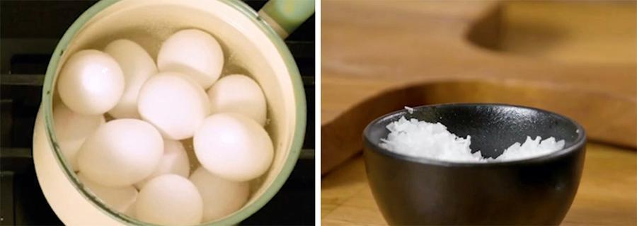 Det går att undvika att äggen spricker i kastrullen.