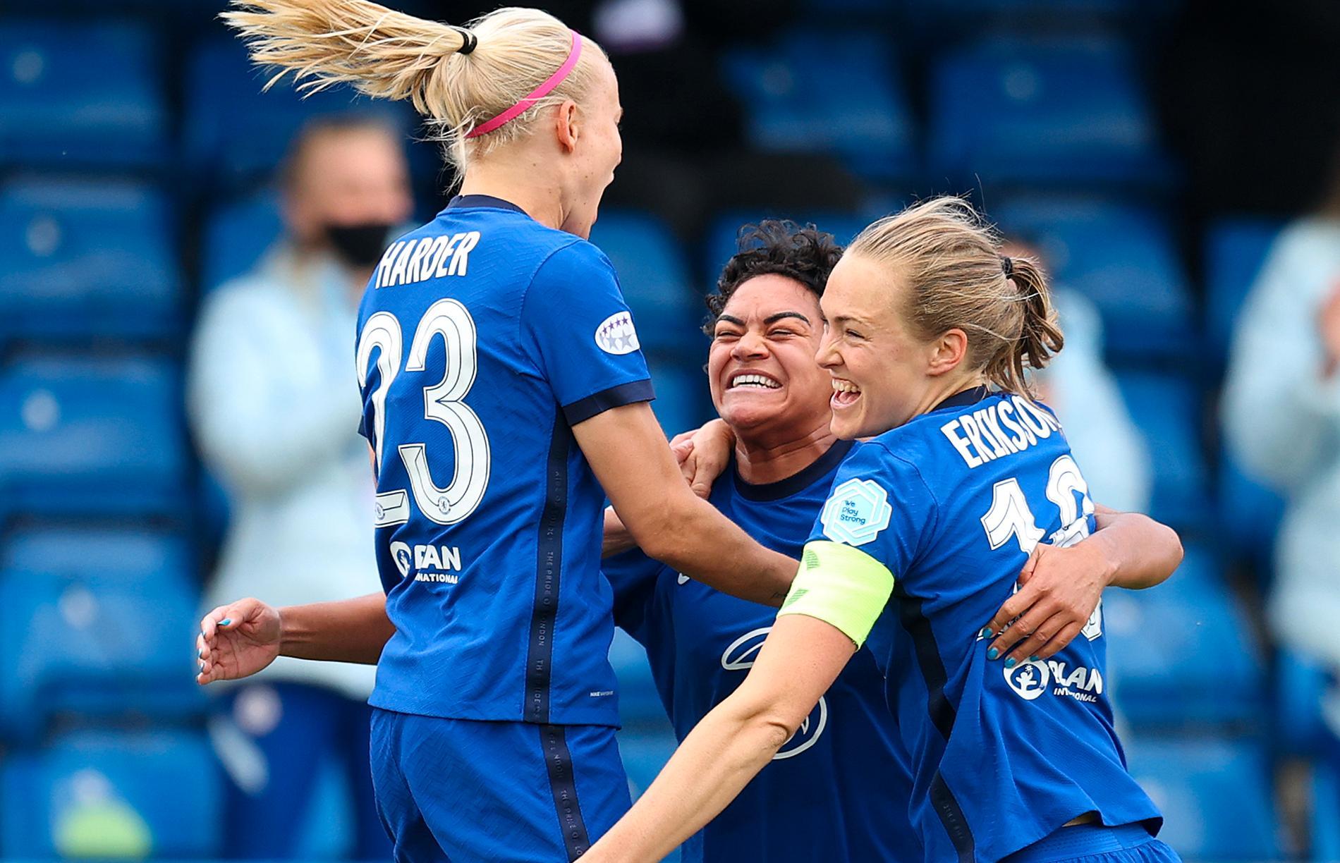 Pernille Harder och Magdalena Eriksson är två av Chelseas största stjärnor.