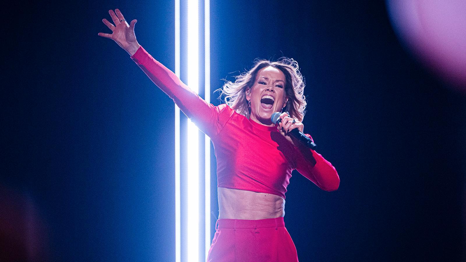 Linda Bengtzing i Melodifestivalen 2020.