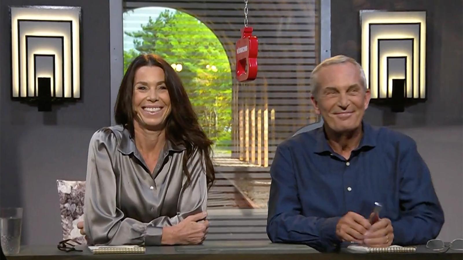 Magdalena Forsberg och Claes Elfsberg.